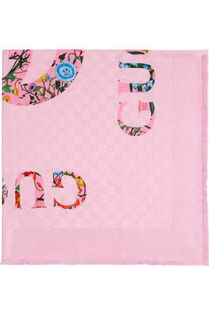 Gucci Miehet Huivit - Flora-print vintage jacquard scarf