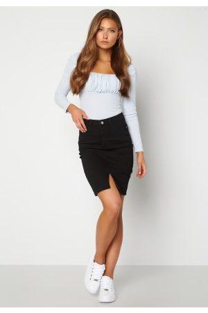 BUBBLEROOM Bianca denim skirt Black 42