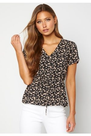 Happy Holly Naiset Paitapuserot - Blake blouse Black / Patterned 36/38