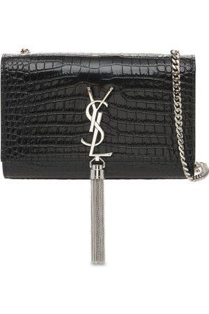Saint Laurent Small Kate Embossed Leather Bag W/tassel