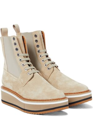 Robert Clergerie Naiset Nilkkurit - Brendy suede platform combat boots