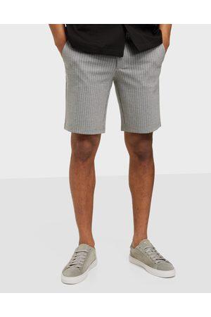 Only & Sons Miehet Shortsit - Onsmark Shorts Hy Stripe Gw 9628 Shortsit Light Grey Melange