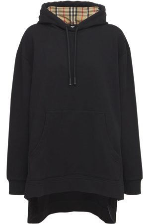 Burberry Naiset Collegepaidat - Aurore Cotton Jersey Sweatshirt Hoodie