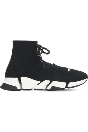 BALENCIAGA Speed 2.0 Knit Lace Up Sneakers