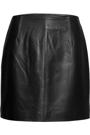 Just Female Naiset Minihameet - Moon Leather Skirt Lyhyt Hame