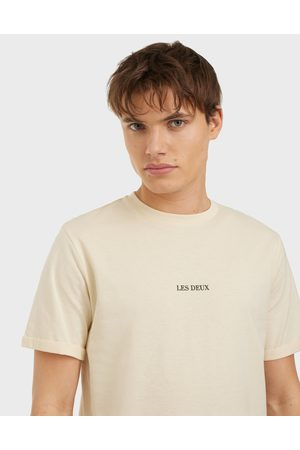 Les Deux Miehet T-paidat - Lens T-Shirt T-paidat ja topit Ivory/Black