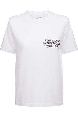 Burberry Naiset T-paidat - Jemma Cotton Jersey T-shirt