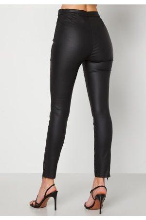 BUBBLEROOM Naiset Leggingsit - Brienne coated zip leggings Black 36