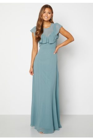 Moments New York Naiset Iltapuvut - Lea Frill Gown Green 42