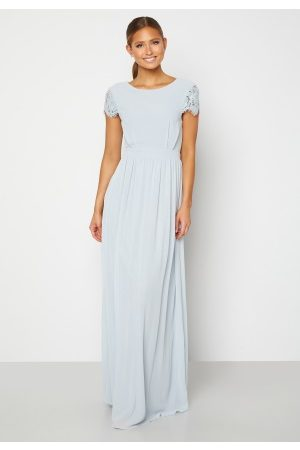 Moments New York Naiset Juhlamekot - Camellia Chiffon Gown Blue-grey 44