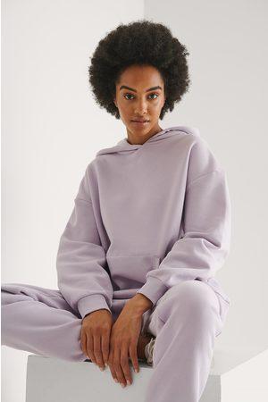 NA-KD Naiset Collegepaidat - Orgaaninen Oversized Taskuhuppari - Purple