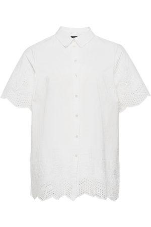 Zizzi Naiset T-paidat - Tunic Buttons Plus Collar Lyhythihainen Paita