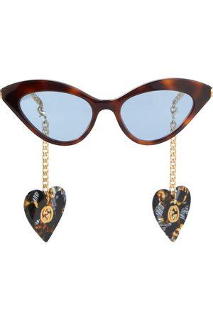 Gucci Tortoiseshell cat-eye sunglasses