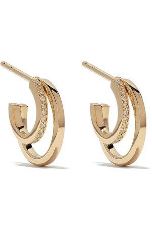 Georg Jensen 18kt Halo brilliant cut diamond hoop earrings