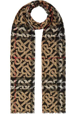 Burberry Monogram-pattern check scarf