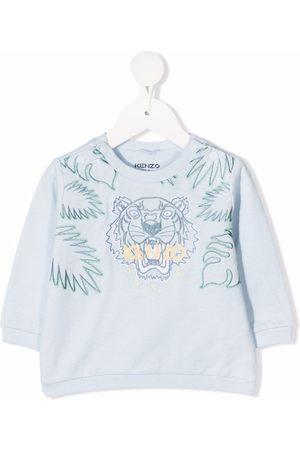 Kenzo Collegepaidat - Tiger logo-embroidered sweatshirt
