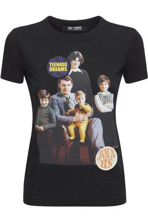RAF SIMONS Naiset T-paidat - Printed Cotton Jersey T-shirt