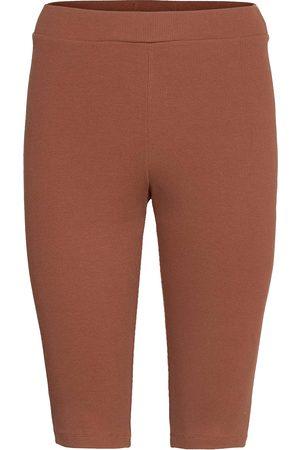 Blanche Rosa Rib Shorts Shorts Cycling Shorts Ruskea