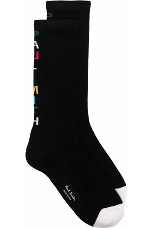 PS Paul Smith Logo-intarsia socks