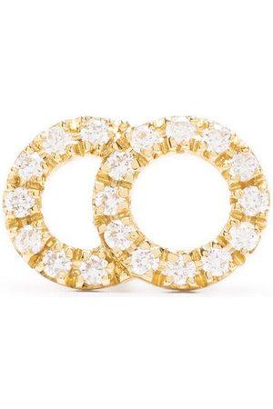 Courbet Naiset Korvakorut - 18kt yellow Celeste small pavé diamond set mono stud earring