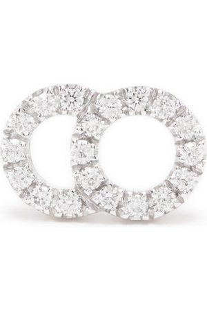 Courbet Naiset Korvakorut - 18kt white gold Celeste small diamond pavé set mono stud earring
