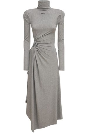 OFF-WHITE Naiset Midimekot - Lvr Exclusive Plisse Panel Midi Dress