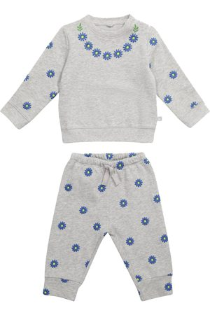 Stella McCartney Baby floral cotton sweater and sweatpants set
