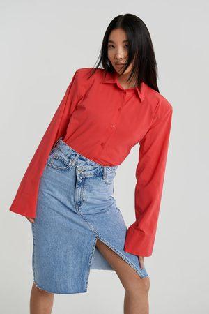 Gina Tricot Wrap denim skirt