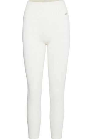 aim'n Naiset Leggingsit - Off-White Luxe Seamless Tights Running/training Tights