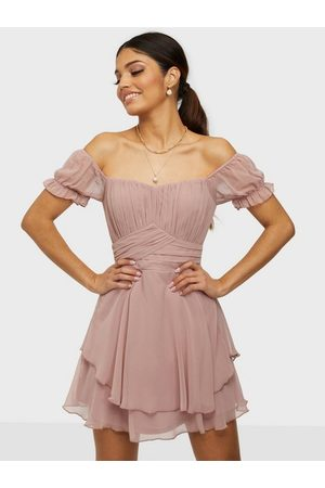 NLY Trend Naiset Rennot Mekot - Girly Bustier Dress Dusty Pink
