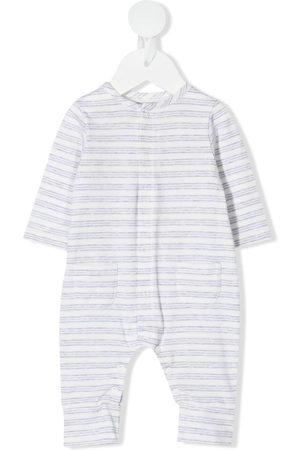 KNOT Striped long-sleeve babygrow