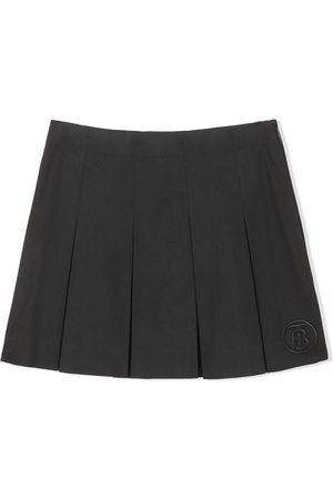 Burberry Vauvat Hameet - Monogram-motif box-pleat skirt