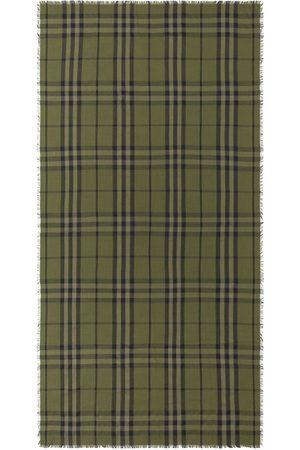 Burberry Huivit - Check pattern fringe-edge scarf