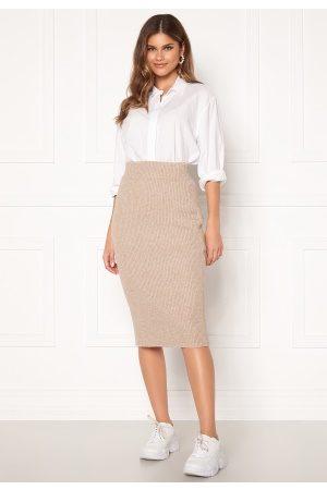 VILA Ril Knit HW Pencil Skirt Natural Melange L
