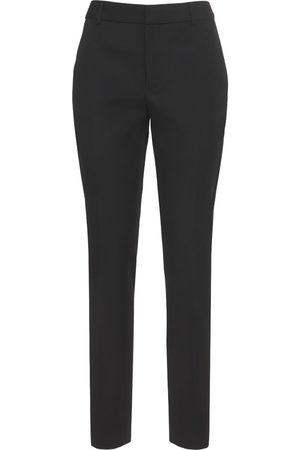 Saint Laurent Naiset Housut - Straight Wool Tuxedo Pants