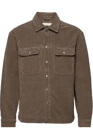 AllSaints Castleford Shirt Farkkutakki Denimtakki Ruskea