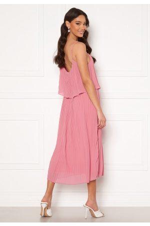 VILA Katelyn S/L Pleated Midi Dress Wild Rose 36