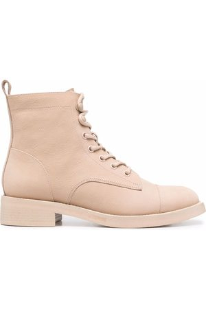12 STOREEZ Lace-up leather ankle boots