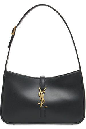 SAINT LAURENT Le 5 À 7 Leather Hobo Bag