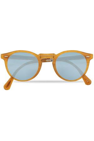 Oliver Peoples Gregory Peck 1962 Folding Sunglasses Matte Amber