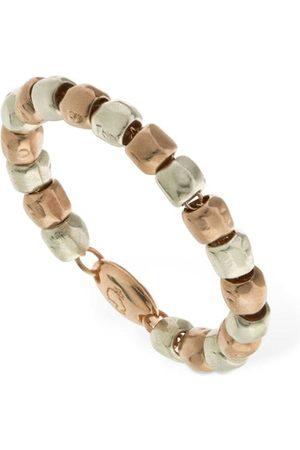 Dodo Naiset Sormukset - 9kt Rose Gold & Silver Granelli Ring