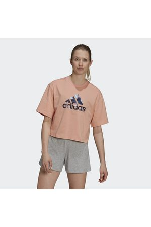 adidas You for You Cropped Logo Tee