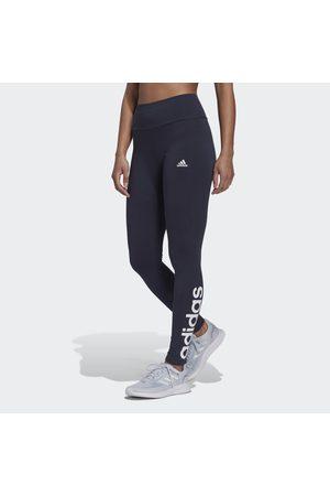 adidas Naiset Leggingsit - LOUNGEWEAR Essentials High-Waisted Logo Leggings