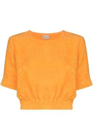 TERRY Naiset T-paidat - Capri cropped T-shirt