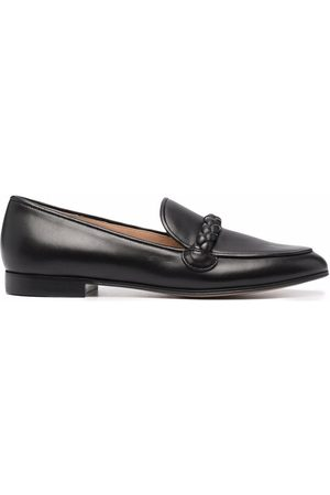 Gianvito Rossi Naiset Loaferit - Braided-trim leather loafers