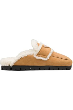 Prada Naiset Tohvelit - Shearling-lined slippers