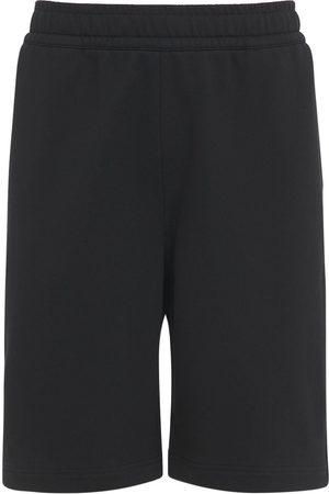Burberry Logo Print Cotton Jersey Sweat Shorts