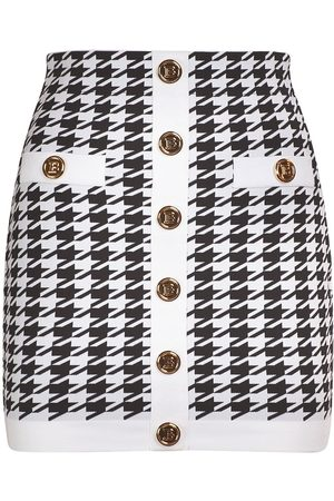 Balmain Naiset Minihameet - Knit Viscose Buttoned Mini Skirt