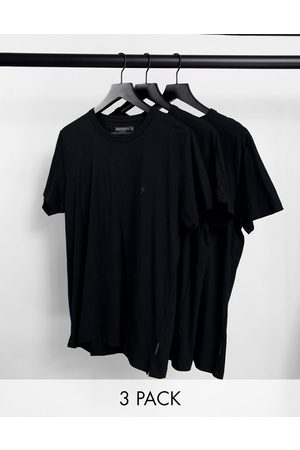 French Connection 3 pack lounge t-shirt in black