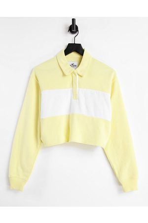 Hollister Stripe polo in yellow